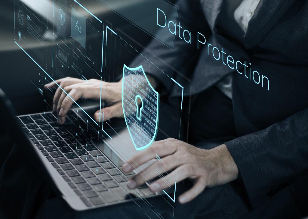 Man installing data protection