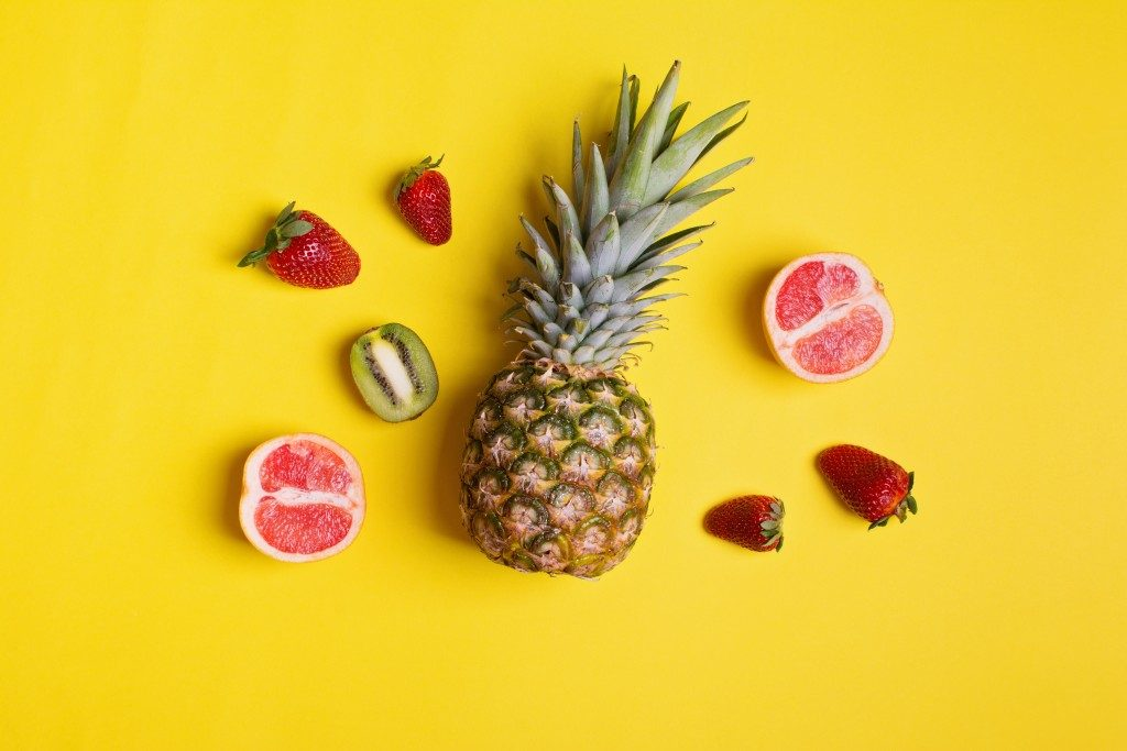 Fruits flat lay photography