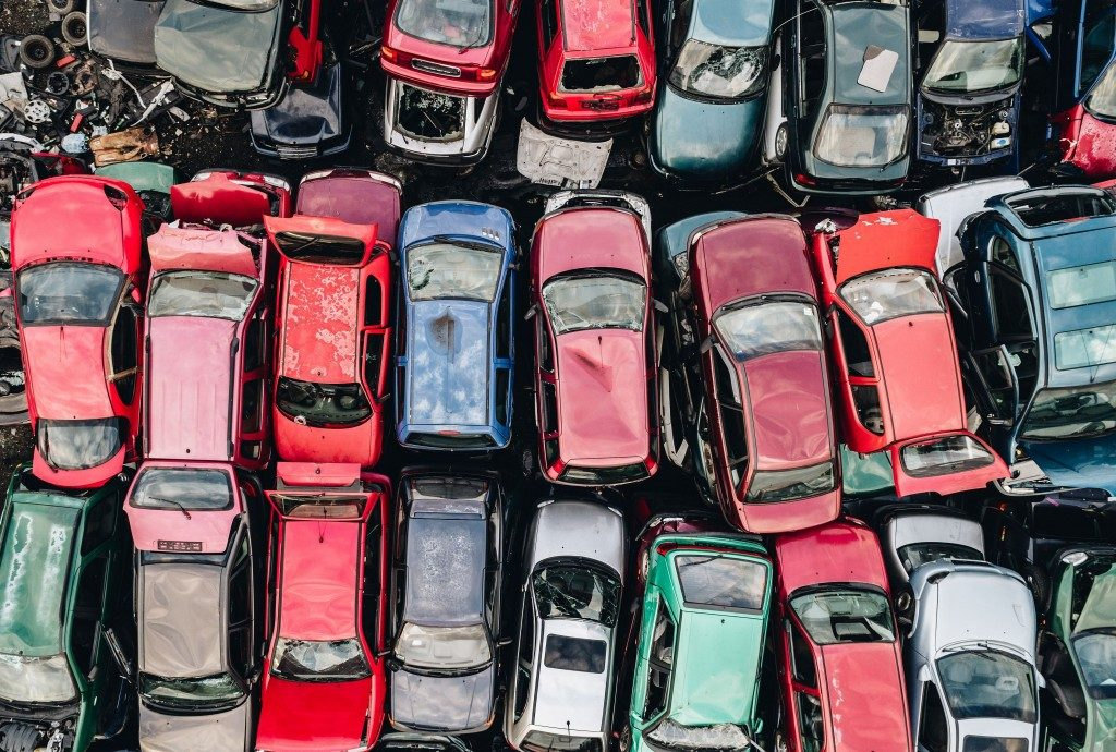 used cars in landfill