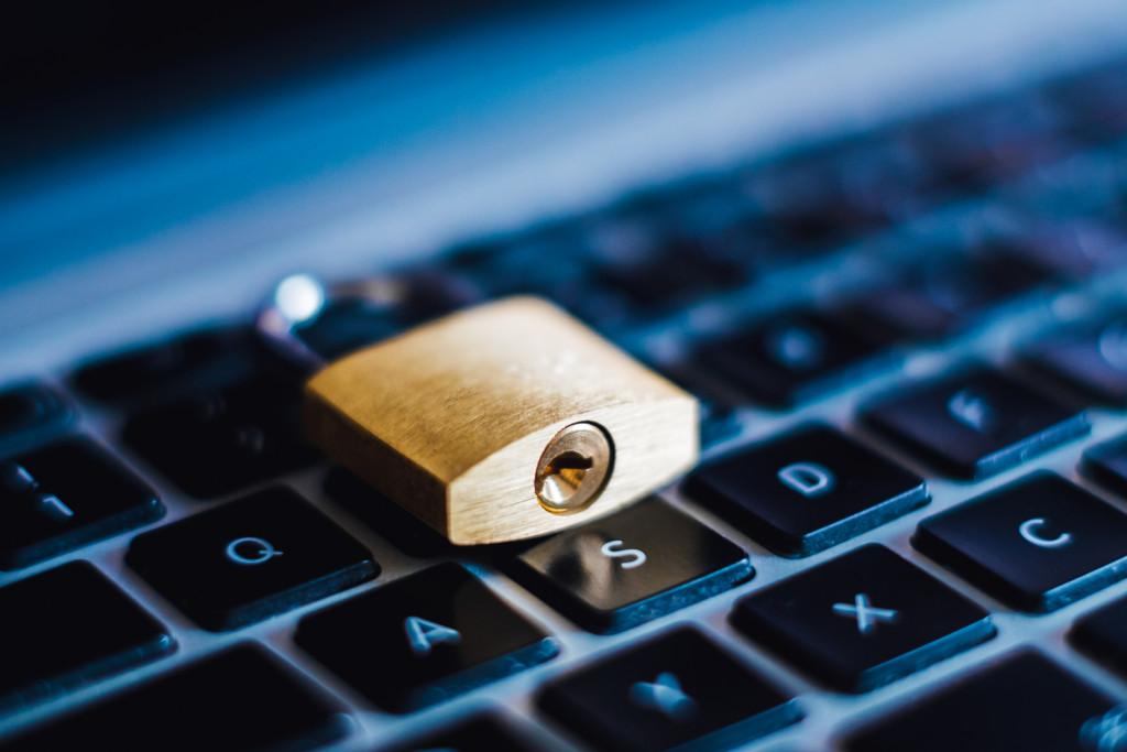 padlock on the keyboard