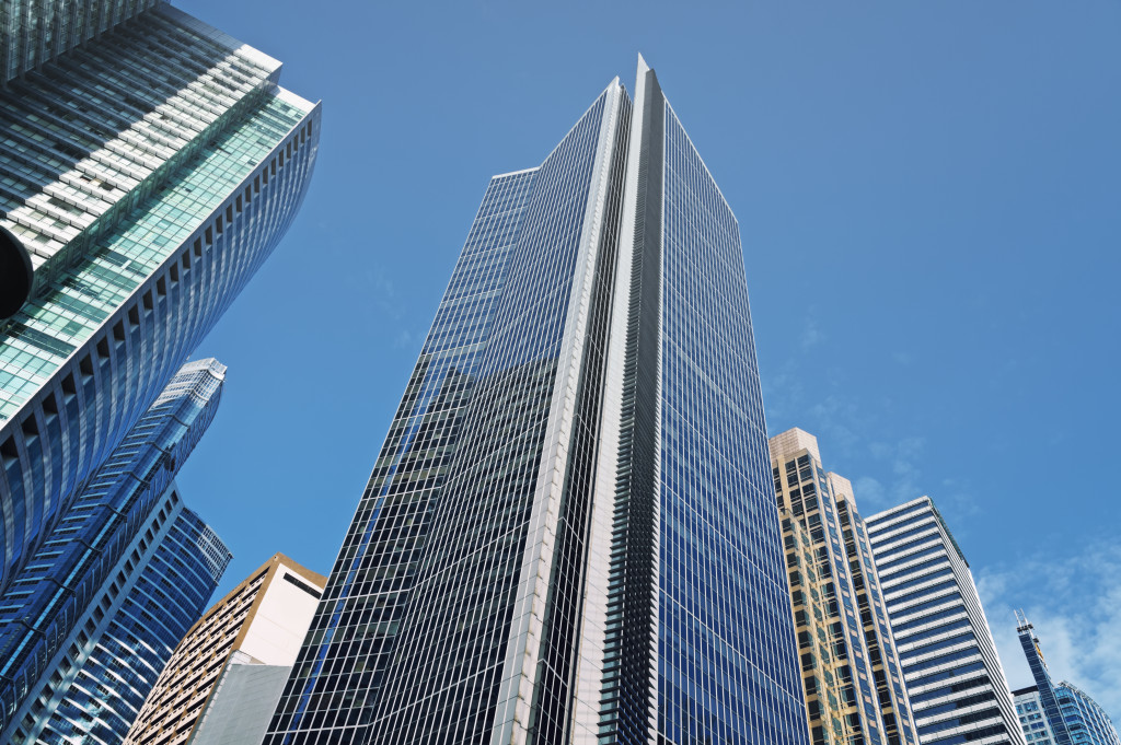 view of skyscrapers