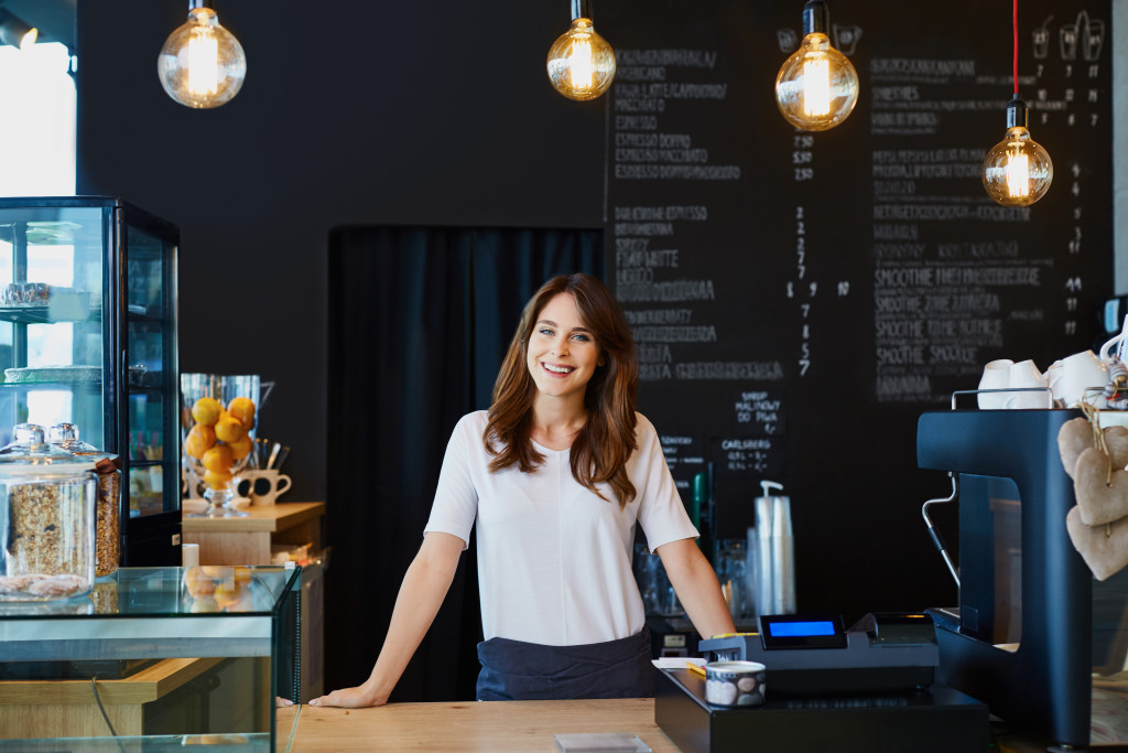 barista behind the counter